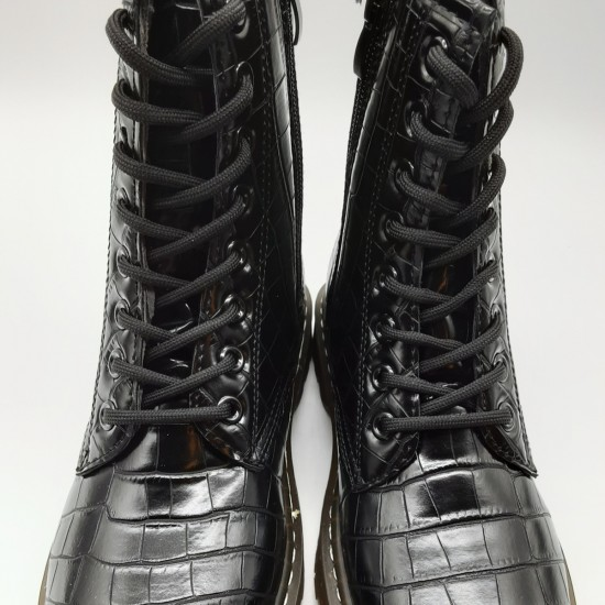 Patent Leather Booties with laces